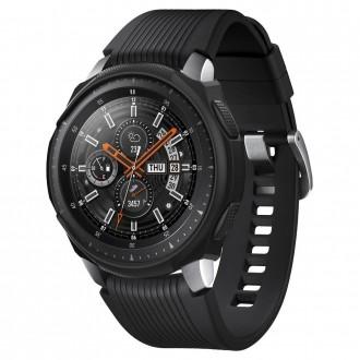 """Juodas dėklas laikrodžiui Samsung Galaxy Watch (46MM) """"Spigen Liquid Air"""""""