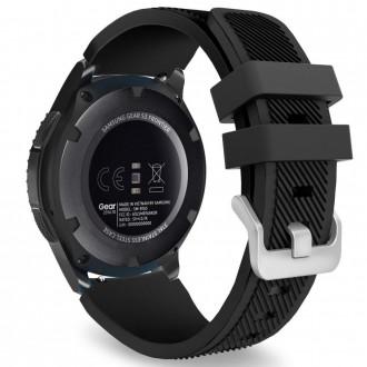 """Juoda apyrankė laikrodžiui Samsung Watch 46MM """"Tech-Protect Smoothband"""""""