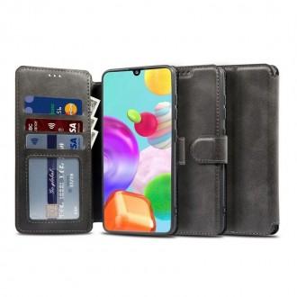 """Juodas atverčiamas dėklas Samsung Galaxy M21  telefonui """"TECH-PROTECT WALLET"""""""