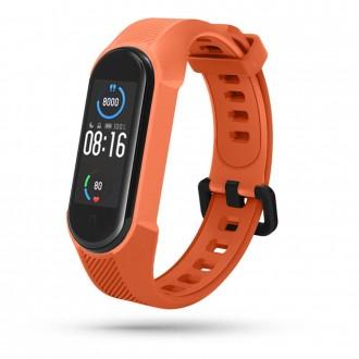 """Oranžinė apyrankė laikrodžiui Xiaomi Mi Smart Band 5/6 """"Tech-Protect Armour"""""""