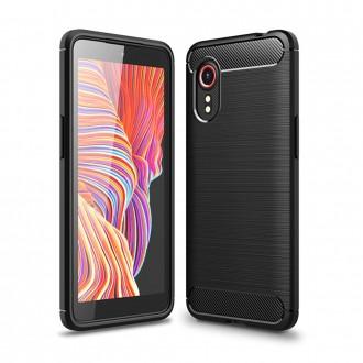"""Juodas dėklas Samsung Galaxy Xcover 5 telefonui """"TECH-PROTECT TPUCARBON """""""