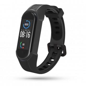 """Juoda apyrankė laikrodžiui Xiaomi Mi Smart Band 5/6 """"Tech-Protect Armour"""""""