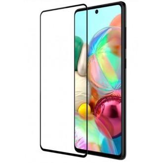 """5D juodais apvadais apsauginis grūdintas stiklas Samsung Galaxy A715 A71 telefonui """"Full Glue"""""""