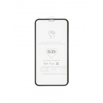 """5D juodas apsauginis grūdintas stiklas Apple iPhone X / XS / 11 Pro telefonui """"Full Glue"""""""