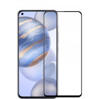 """5D juodas apsauginis grūdintas stiklas Huawei Honor 30 / Nova 7 telefonui """"Full Glue"""""""