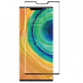 """5D juodas apsauginis grūdintas stiklas Huawei Mate 30 Pro telefonui """"Full Glue"""""""