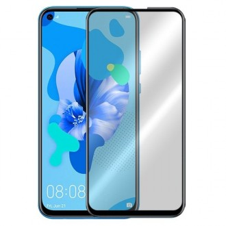 """5D juodas apsauginis grūdintas stiklas Huawei P20 Lite 2019 / P40 Lite telefonui """"Full Glue"""""""