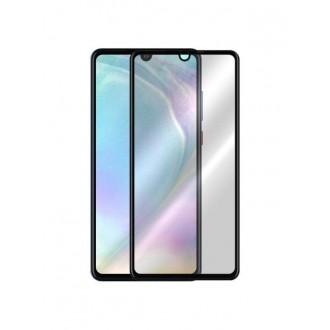 """5D juodas apsauginis grūdintas stiklas Huawei P30 telefonui """"Full Glue"""""""