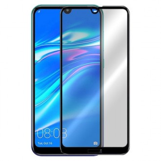 """5D juodas apsauginis grūdintas stiklas Huawei Y7 2019 / Enjoy 9 / Y7 Prime 2019 telefonui """"Full Glue"""""""