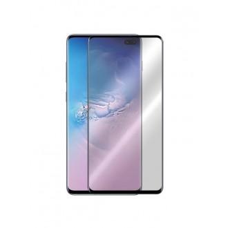 5D juodas apsauginis grūdintas stiklas Samsung Galaxy G975 S10 Plus telefonui (BE IŠPJOVIMO)