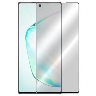 5D juodas apsauginis grūdintas stiklas Samsung Galaxy N975 Note 10 Plus telefonui (BE IŠPJOVIMO)