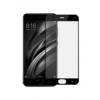 """5D Juodas apsauginis grūdintas stiklas Xiaomi Mi 6 telefonui """"Full Glue"""""""