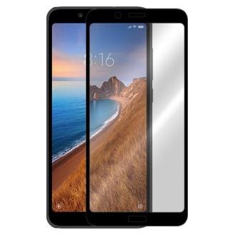 Apsauginis grūdintas stiklas ''5D Full Glue Quality'' Xiaomi Redmi 7A telefonui (Pritaikytas dėklui)