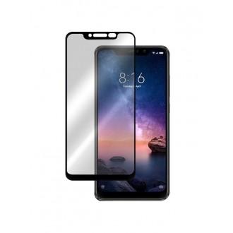 """5D Juodas apsauginis grūdintas stiklas Xiaomi Redmi Note 6 / Note 6 Pro telefonui """"Full Glue"""""""