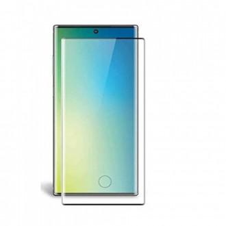 Apsauginis grūdintas stiklas ''5D Full Glue HQ Quality''  Samsung Galaxy G973 S10 telefonui (su ispjovimu pirsto antspaudui)