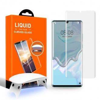 """Skaidrus apsauginis grūdintas stiklas """"T-Max UV Glass"""" Huawei P30 Pro telefonui"""