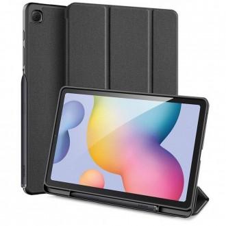 Juodas atverčiamas dėklas Samsung TAB S6 LITE 10.4 P610 / P615   ''DUXDUCIS DOMO''