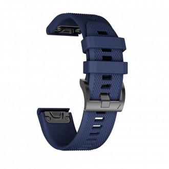 """Mėlyna apyrankė laikrodžiui Garmin Fenix 3/5X/3HR/5X Plus/6X/6X Pro """"Tech-Protect Smooth"""""""