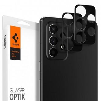 """Apsauginis grūdintas stiklas Samsung Galaxy A52 LTE/5G telefono kamerai apsaugoti """"Spigen Optik.TR Camera Lens"""""""