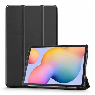 Juodas atverčiamas dėklas Samsung TAB S6 LITE 10.4 P610 / P615  ''TECH-PROTECT SMARTCASE''