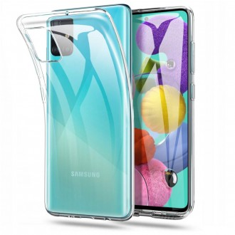Skaidrus, silikoninis Tech - Protect dėklas Samsung Galaxy A51 telefonui