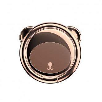 """Rudas universalus telefono laikiklis ant piršto - žiedas """"BASEUS MAGNETIC BEAR"""""""