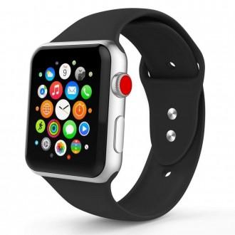 """Juoda apyrankė laikrodžiui """"Apple Watch 1/2/3/4/5 (42-44MM) """"Tech-Protect Smoothband"""""""