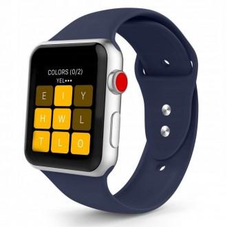 """Mėlyna apyrankė laikrodžiui """"Apple Watch 1/2/3/4/5 (42-44MM) """"Tech-Protect Smoothband"""""""