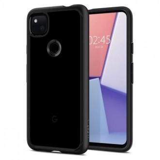 "Juodas matinis dėklas ""Spigen Ultra Hybrid"" telefonui Google Pixel 4A"
