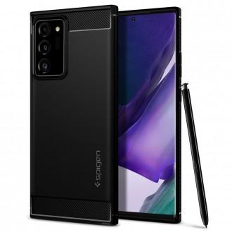 "Juodas dėklas Samsung Galaxy Note 20 Ultra telefonui ""Spigen Rugged Armor"""