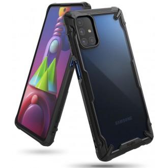 """Skaidrus juodais kraštais RINGKE """"Fusion X"""" dėklas telefonui GALAXY M51"""
