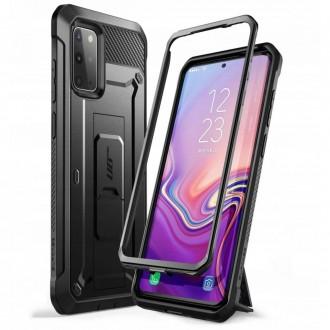 """Juodas dėklas Samsung Galaxy S20 telefonui """"Supcase Unicorn Beetle Pro"""""""
