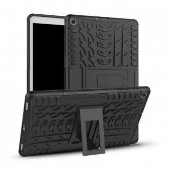 """Juodas dėklas """"Tech-Protect Armorlok"""" Samsung T510 / T515 Tab A 10.1 2019"""