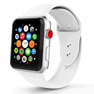 """Balta apyrankė laikrodžiui """"Apple Watch 1/2/3/4/5 (38-40MM) """"Tech-Protect Smoothband"""""""