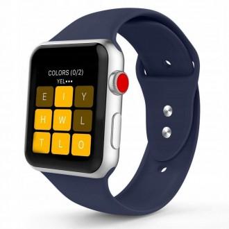 """Mėlyna apyrankė laikrodžiui """"Apple Watch 1/2/3/4/5 (38-40MM) """"Tech-Protect Smoothband"""""""