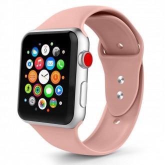 """Rausva apyrankė laikrodžiui """"Apple Watch 1/2/3/4/5 (42-44MM) """"Tech-Protect Smoothband"""""""