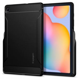 """Juodas dėklas Samsung Galaxy Tab S6 Lite 10.4 P610/P615 telefonui """"Spigen Rugged Armor"""""""