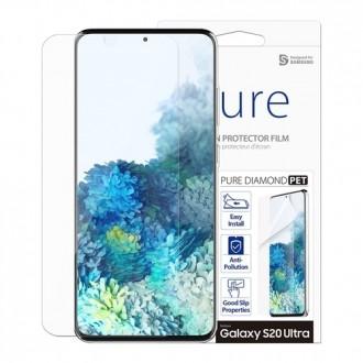 """Apsauginė ekrano plėvelė """"Araree Pure Diamond"""" Samsung Galaxy G988 S20 Ultra telefonui"""