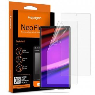 "Apsauginė ekrano plėvelė ""Spigen neo flex"" Samsung Galaxy Note 10 Plus telefonui"