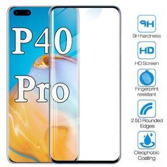 Apsauginis grūdintas stiklas ''9D Full Glue '' Huawei P40 Pro telefonui