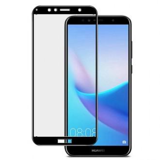 Apsauginis grūdintas stiklas ''5D Full Glue '' Huawei Y6 2018 telefonui