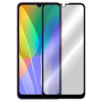 Apsauginis grūdintas stiklas ''5D Full Glue '' Huawei Y6P telefonui