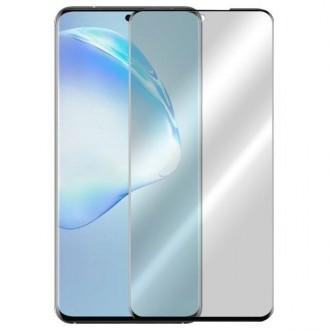 Apsauginis grūdintas stiklas ''5D Full Glue '' Samsung Galaxy G988 S20 Ultra telefonui (be išpjovimo antspaudui)