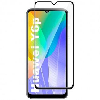 Apsauginis grūdintas stiklas ''9D Full Glue '' Huawei Y6P telefonui