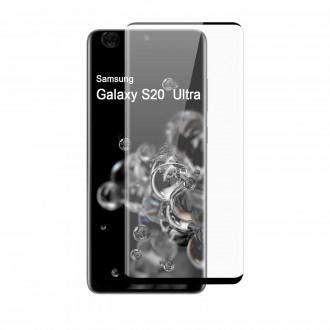 Apsauginis grūdintas stiklas ''9D Full Glue '' Samsung Galaxy G988 S20 Ultra telefonui