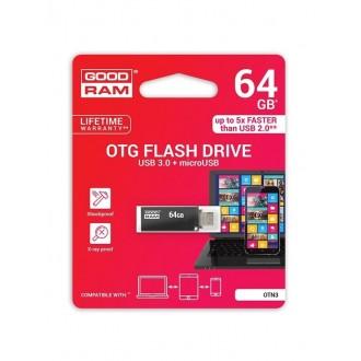 """Atmintinė GOODRAM OTN3 64Gb OTG USB 3.0 + """"microUSB"""""""