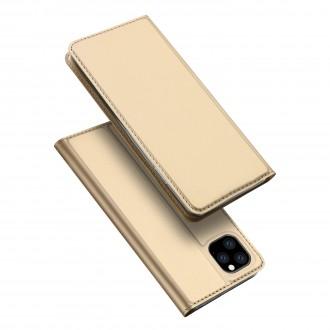 """Atverčiamas Dėklas """"Dux Ducis Skin Pro"""" Xiaomi Poco M3 Pro / Redmi Note10 5G aukso spalvos"""