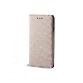 """Auksinės spalvos atverčiamas dėklas Apple iPhone 7 / 8 / SE 2020 telefonui """"Smart Book Magnet"""""""