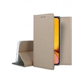 """Auksinės spalvos atverčiamas dėklas Apple iPhone XR telefonui """"Smart Magnet"""""""