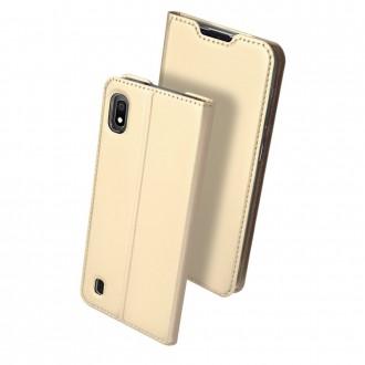 """Auksinės spalvos atverčiamas dėklas Samsung A105 A10 telefonui """"Dux Ducis Skin"""""""